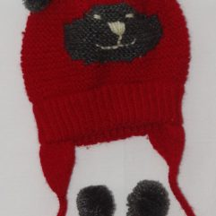 Buy Hand-knitted Red Woolen Cap Online India - The Village Naturals