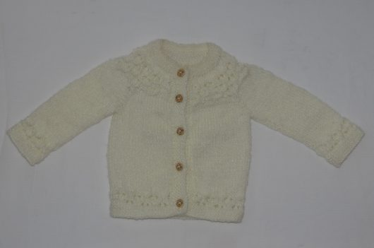 Buy Hand knitted Cream Sweater Online India - The Village Naturals