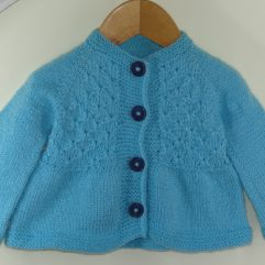 Buy Hand knitted Light Blue Sweater Online India - The Village Naturals