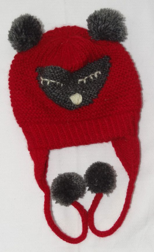 Buy Hand knitted Woolen Red Cap Online India - The Village Naturals