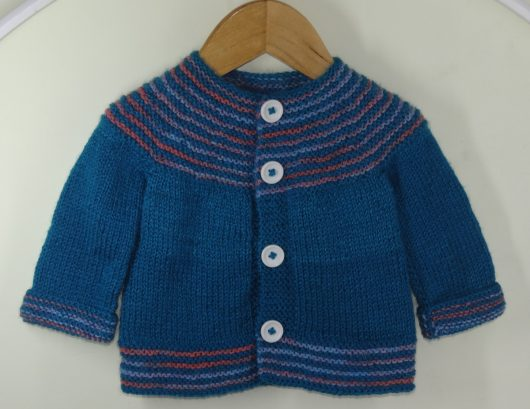 Buy Hand-knitted Multi Color Sweater Online India - The Village Naturals