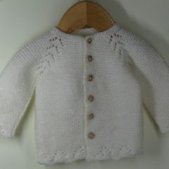 Buy Hand-knitted White Sweater Online India - The Village Naturals