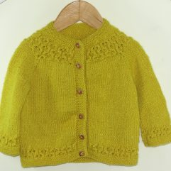 Buy Hand Knit Mustard Yellow Sweater Online India - The Village Naturals