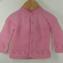 Buy Hand-Knitted Light Pink Sweater Online India - The Village Naturals