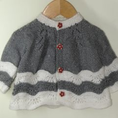 Buy Hand Knit Grey & White Sweater Online India - The Village Naturals