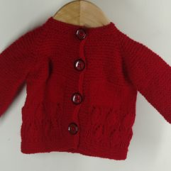 Buy Hand-knitted Red Woolen Sweater Online India - The Village Naturals