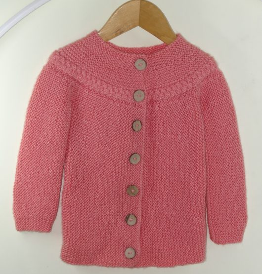 Buy Hand knitted Punch Pink Sweater Online India - The Village Naturals