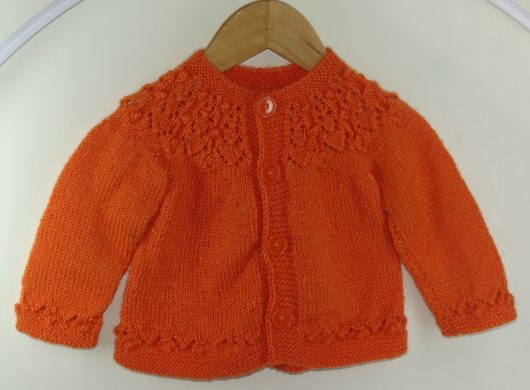 Buy Hand Knitted Orange Sweater Online India - The Village Naturals