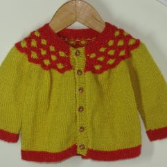 Buy Red & Mustard-Yellow Sweater Online India - The Village Naturals