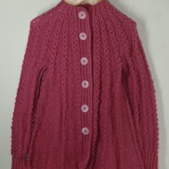 Buy Rouge Pink Frock Sweater Online India - The Village Naturals
