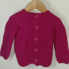 Buy Hand Knitted Magenta Sweater Online India - The Village Naturals