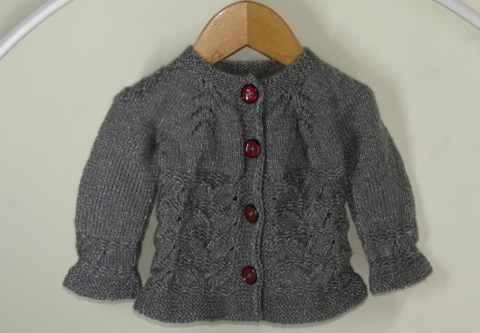 Buy Hand Knitted Grey Woolen Sweater Online India - The Village Naturals