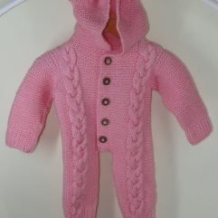 Buy Hand-Knitted Pink Romper Sweater Online India - The Village Naturals