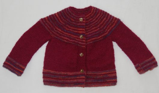 Buy Hand Knitted Maroon Sweater Online India - The Village Naturals