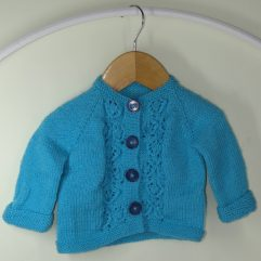 Buy Hand knitted Ocean Blue sweater Online India - The Village Naturals
