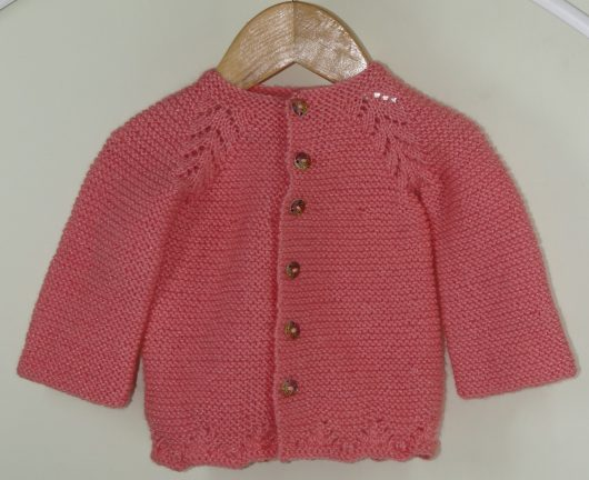 Buy Hand Knitted Pink Woolen Sweater Online India - The Village Naturals