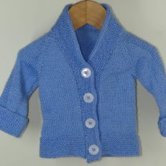 Buy Hand-knitted Sky-Blue Sweater Online India - The Village Naturals