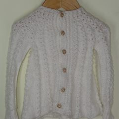 Buy Hand-knitted White Frock Sweater Online India - The Village Naturals