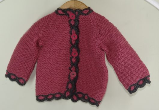 Buy Hand-knitted Pink Rouge Sweater Online India - The Village Naturals