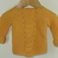 Buy Hand-knit Mustard Yellow Sweater Online India - The Village Naturals