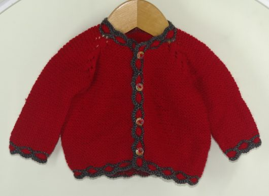 Buy Hand-knitted Red Sweater Online India - The Village Naturals