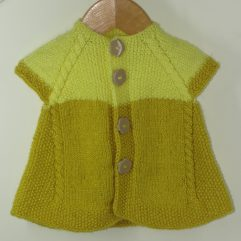 Buy Hand-knitted Yellow half Sweater Online India - The Village Naturals