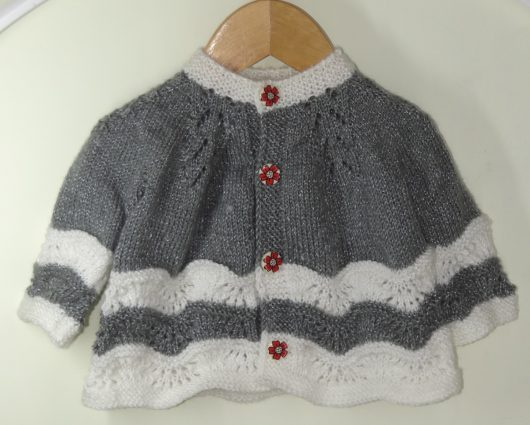 Buy Hand knitted Grey & White Sweater Online India - The Village Naturals