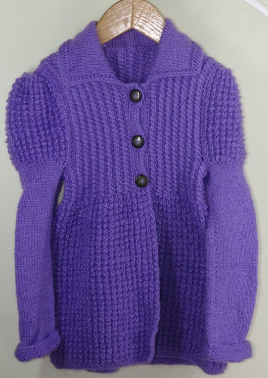 Buy Purple Jacket Style Sweater Online India - The Village Naturals