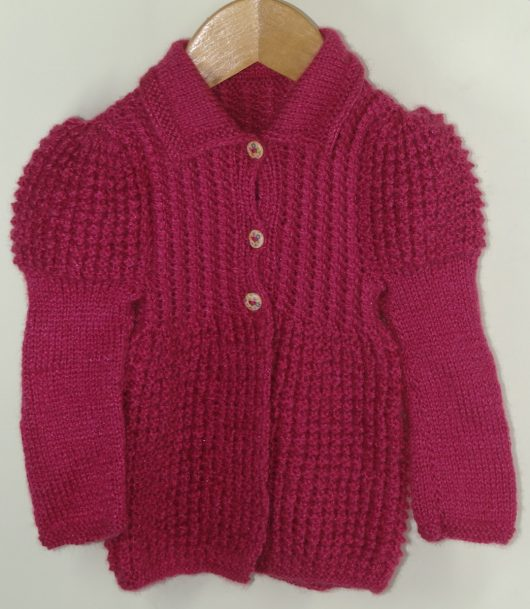 Buy Pink Jacket Style Sweater Online India - The Village Naturals