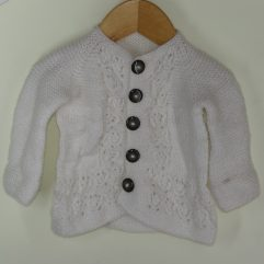 Buy Hand-knit White Sweater Online India - The Village Naturals