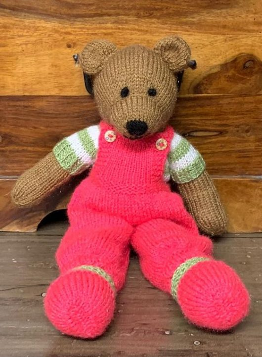 Buy Hand Knit Teddy Bear Brown Online India - The Village Naturals