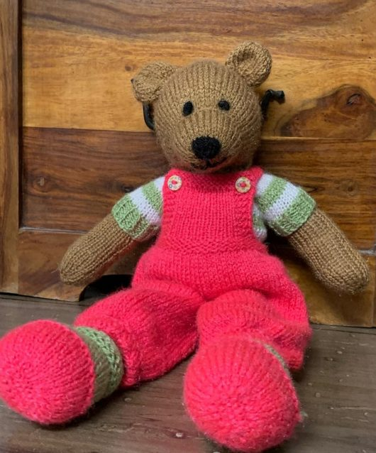 Hand Knitted Soft Toy Teddy Bear