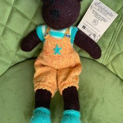 Buy Hand Knitted Soft Toy Teddy Bear Dark Brown Online India - The Village Naturals