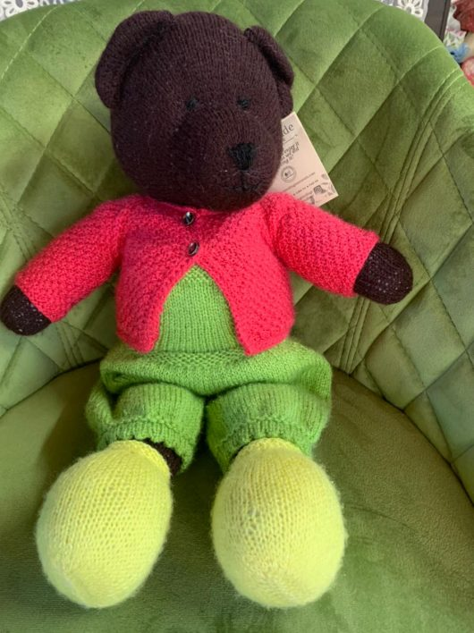 Buy Hand Knit Soft Toy Teddy Bear Online India - The Village Naturals