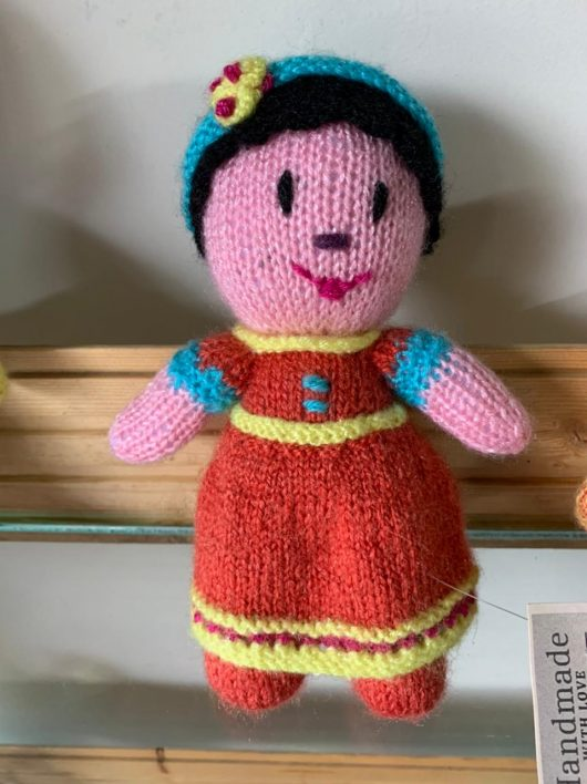 Buy Hand Knitted Doll Soft Toy Pink Online India - The Village Naturals